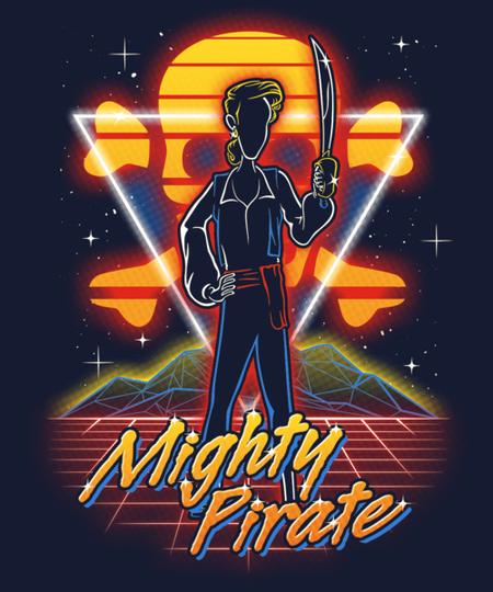 Qwertee: Retro Mighty Pirate