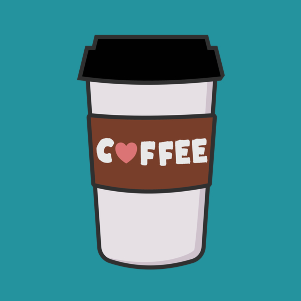 NeatoShop: Coffee Cup With Heart T-Shirt