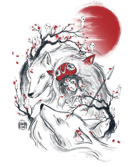 Qwertee: Wolf Princess
