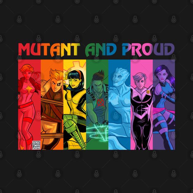 TeePublic: Mutant and Proud Rainbow