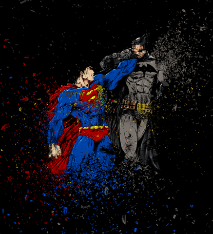 Shirt Battle: Superman vs Batman