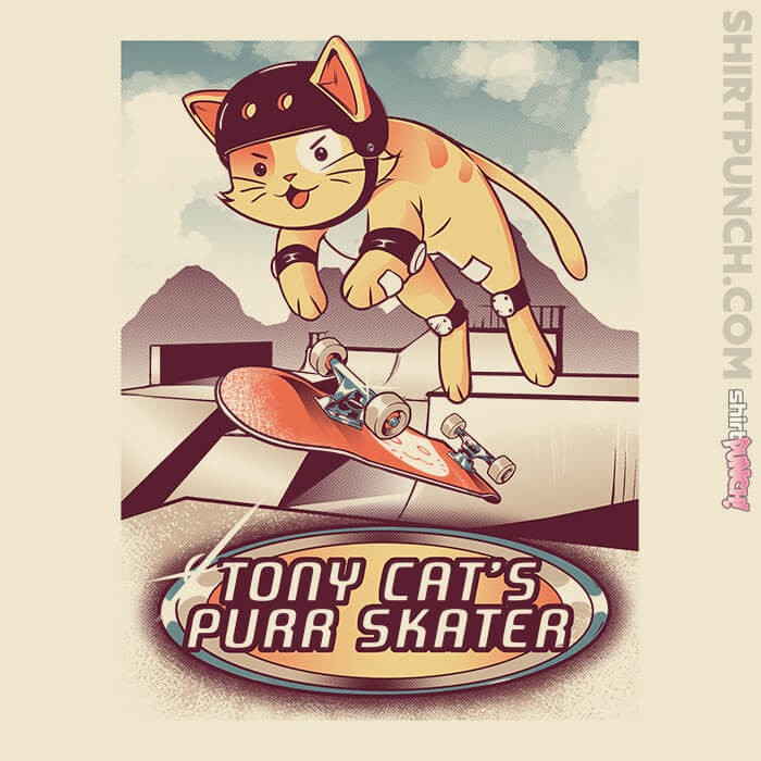 ShirtPunch: Tony Cat's Purr Skater