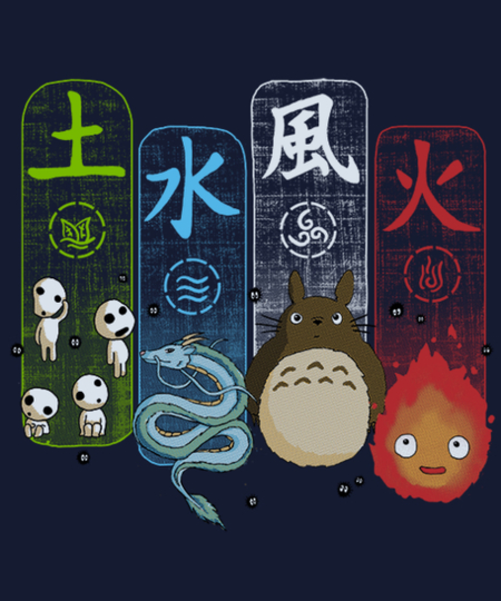 Qwertee: Elemental charms . Inverted Version