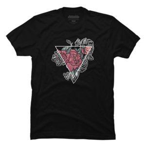 Design by Humans: Tri-Floral Black