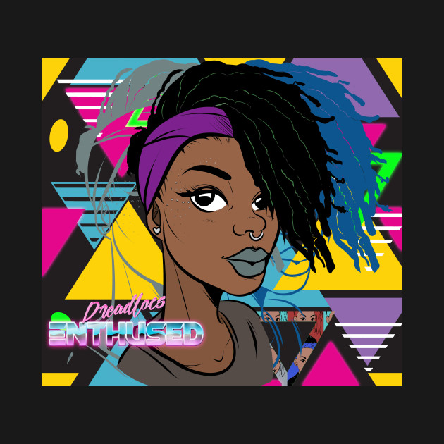 TeePublic: Dreadlocs Enthused [Retro style]