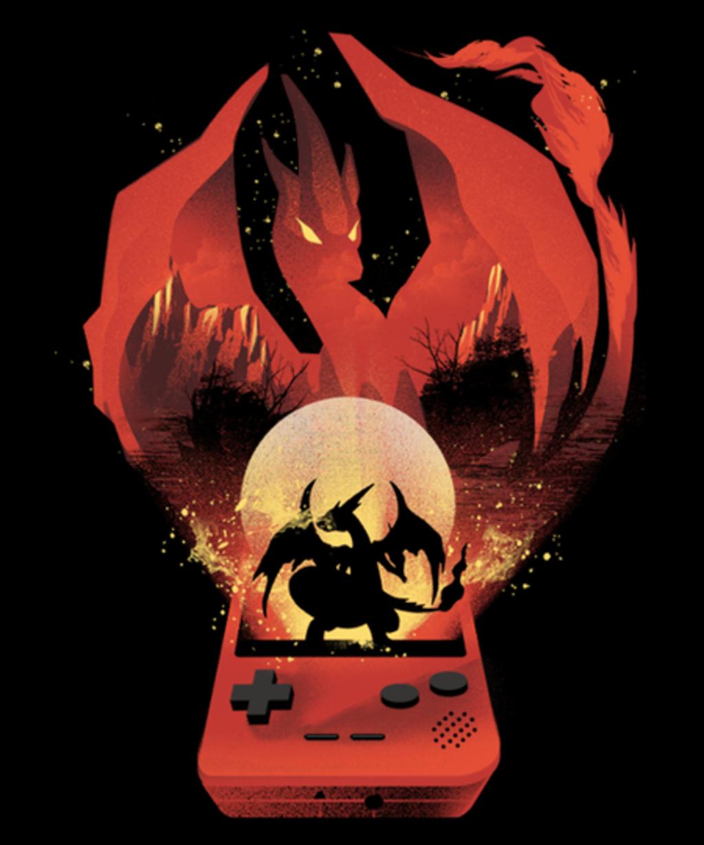 Qwertee: The Fire Monster