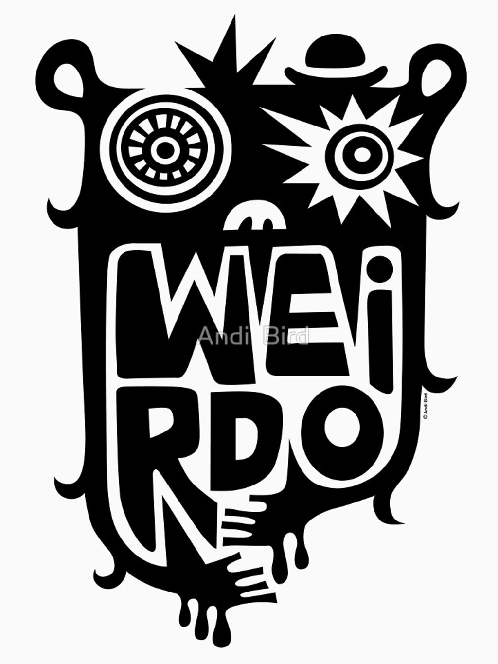 RedBubble: Big weirdo - on light colors