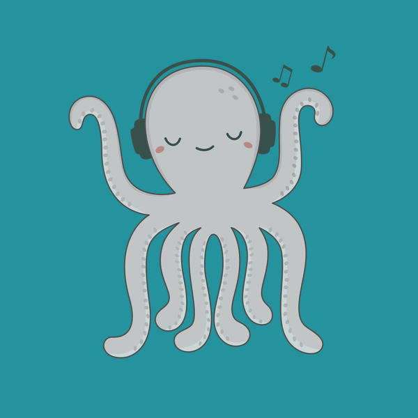NeatoShop: Octopus is kawaii and loves music