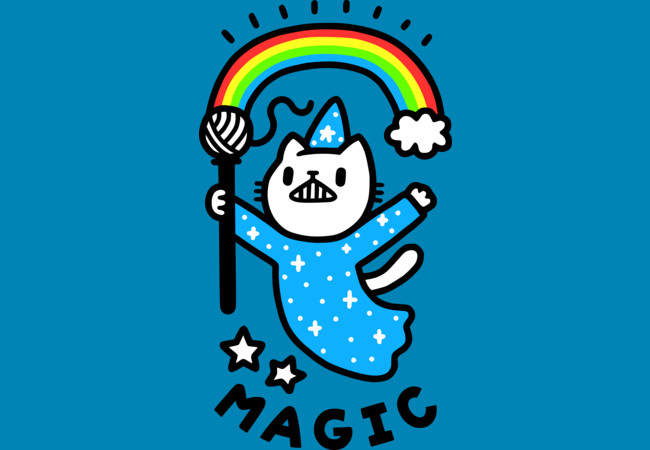 Design by Humans: Magical Wizard Cat