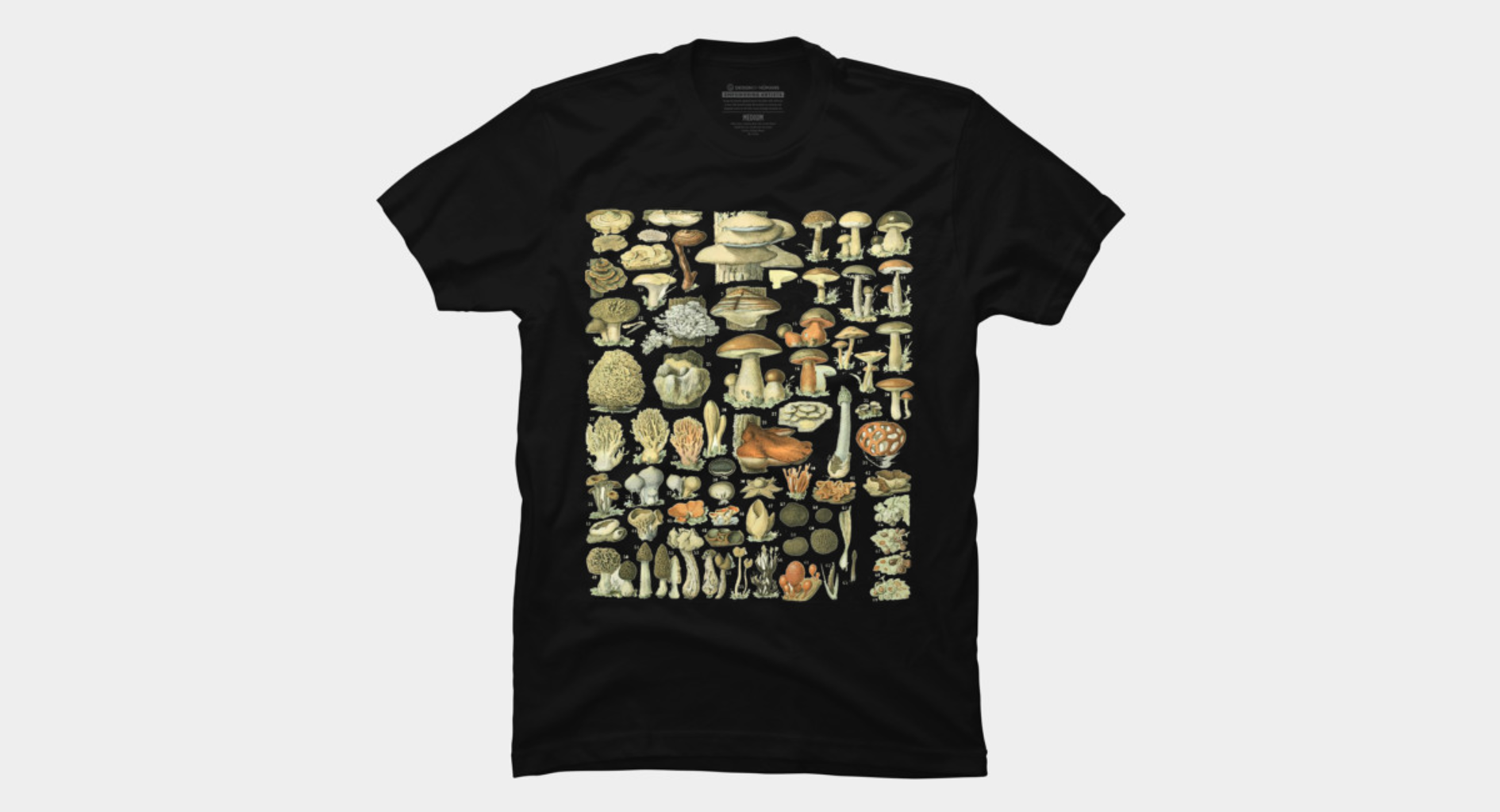 Design by Humans: Mushrooms - Botanical Illustration Art