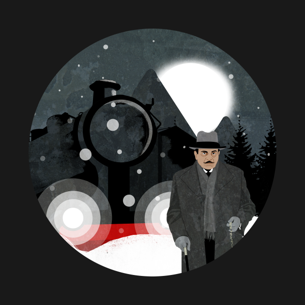 TeePublic: Poirot Murder on the Orient Express