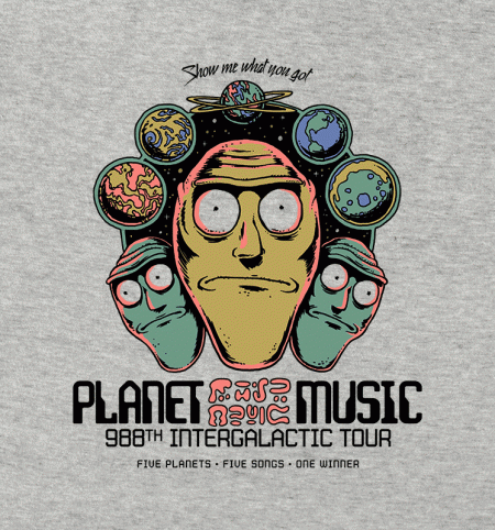 BustedTees: Planet Music