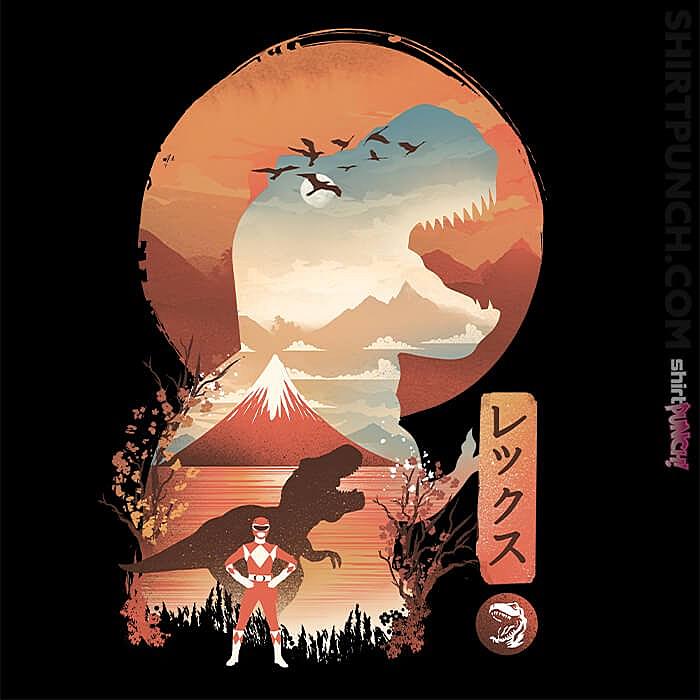 ShirtPunch: Red Ranger Ukiyoe