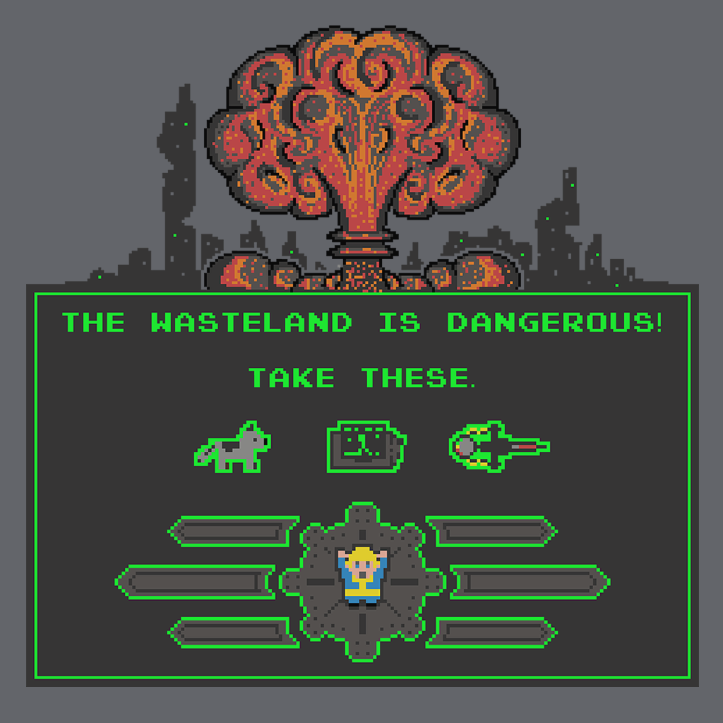 Pop-Up Tee: The Wasteland is Dangerous