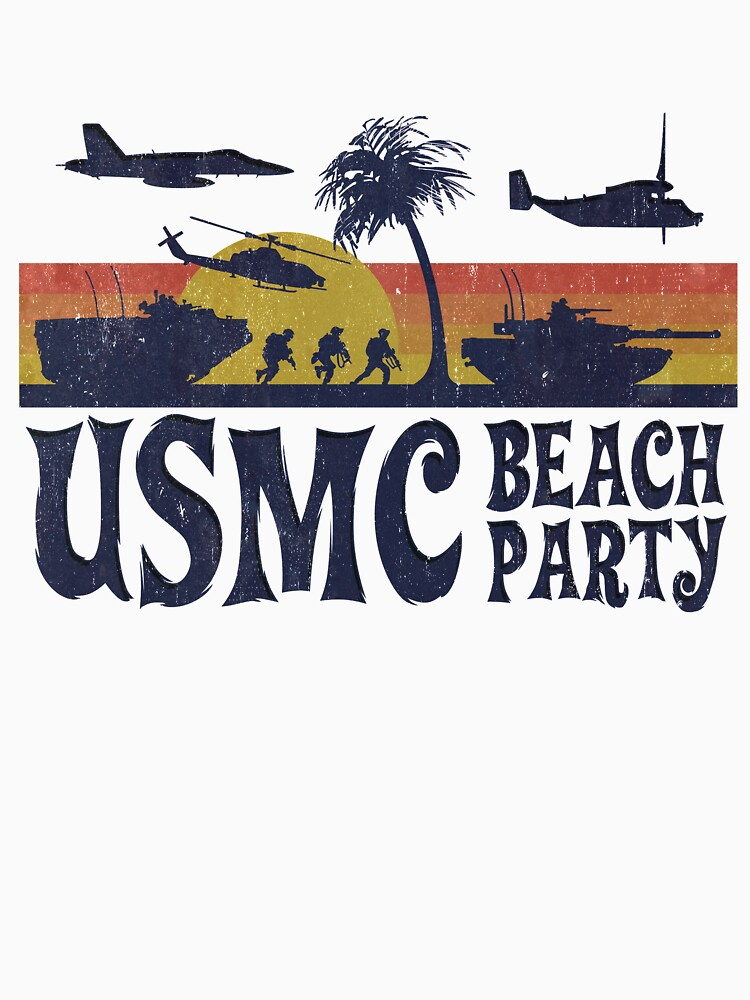 RedBubble: USMC Beach Party