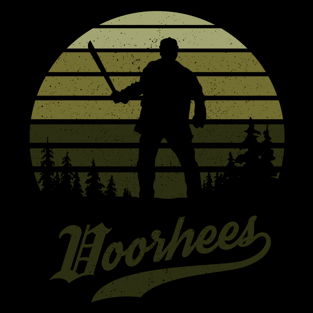 Pop-Up Tee: Horror Sun Set Voorhees