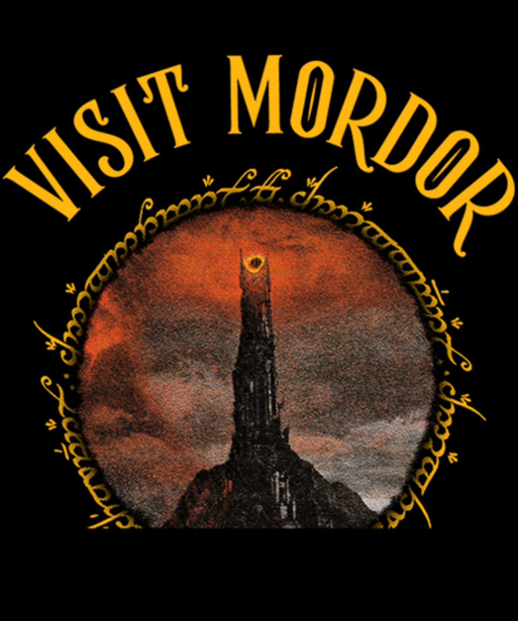Qwertee: Visit Mordor