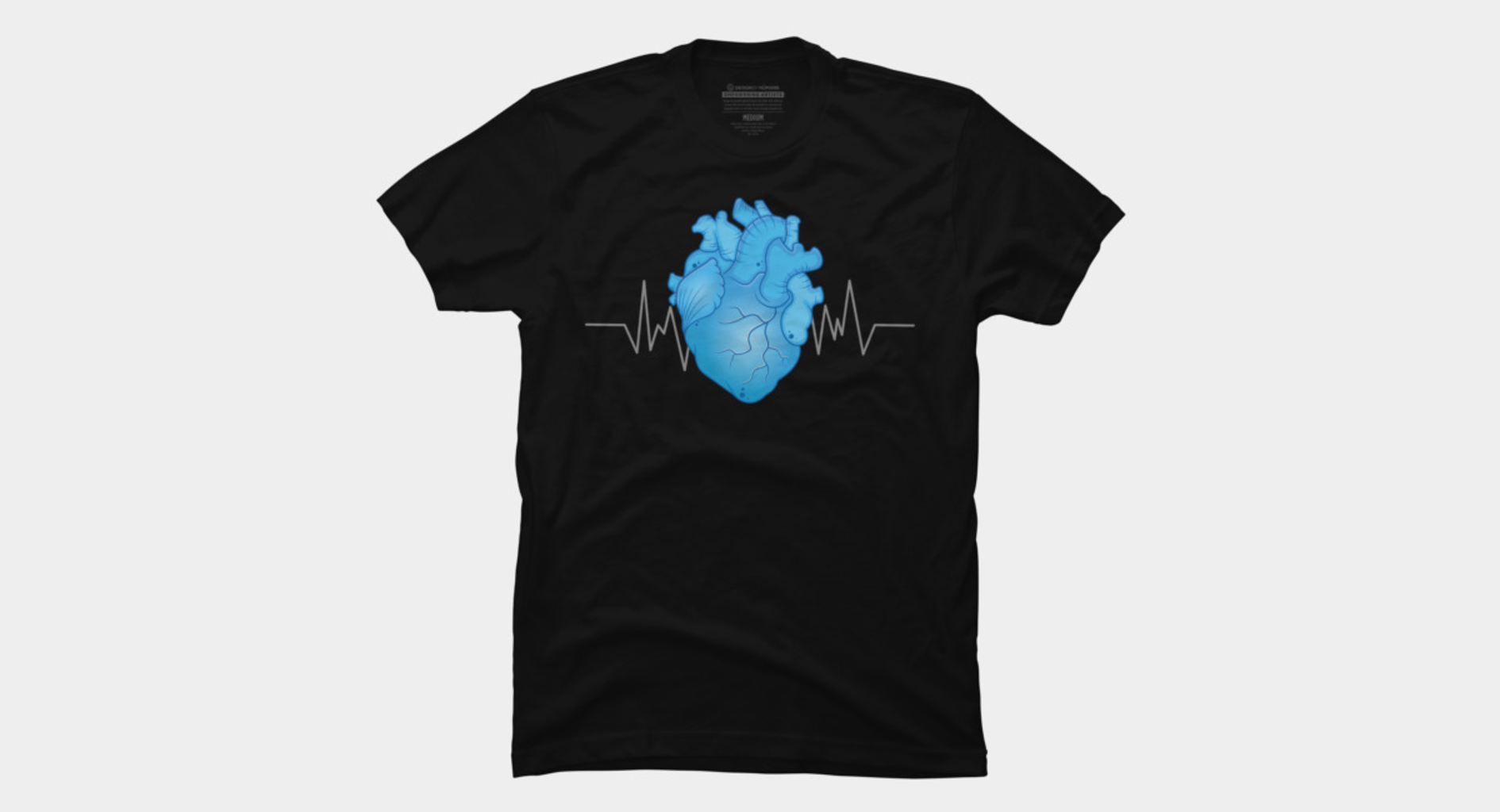 Design by Humans: BLUE  HEART