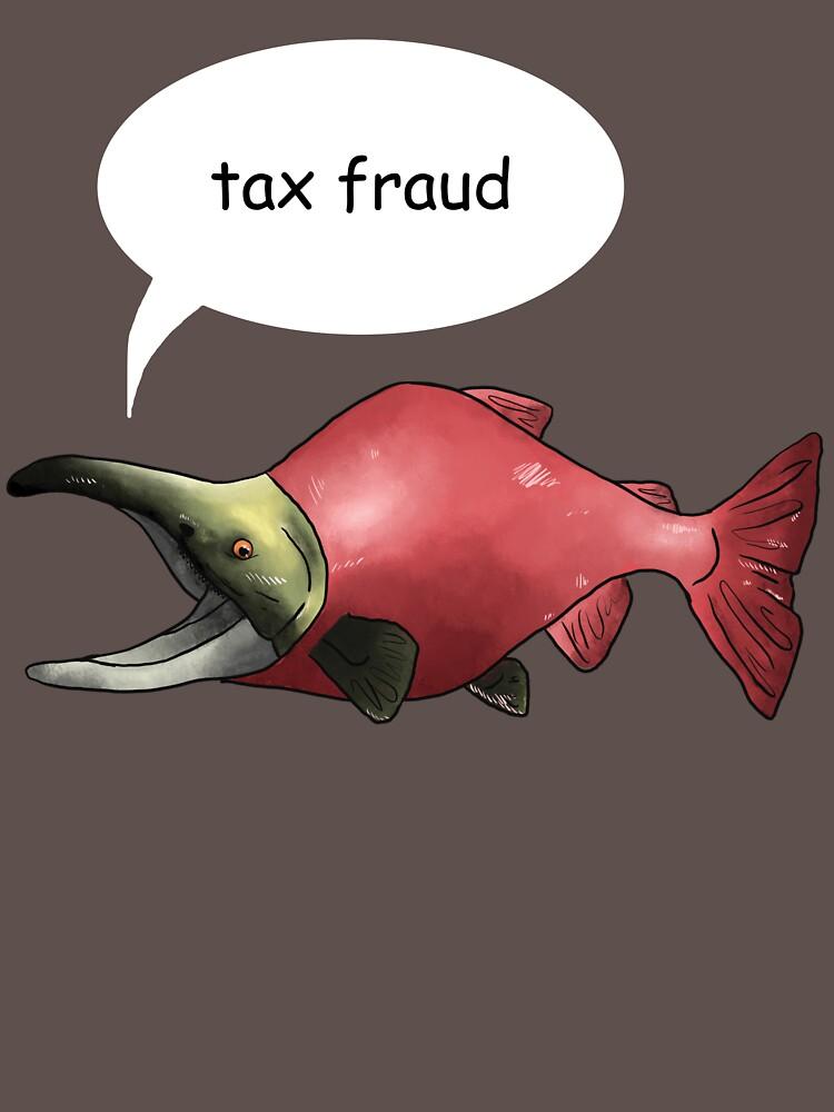 RedBubble: tax fraud salmon