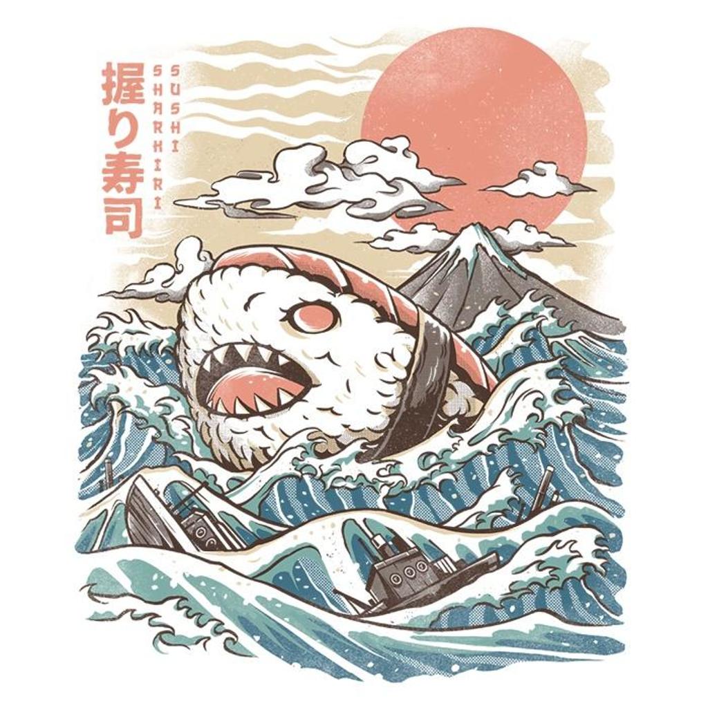 Once Upon a Tee: Sharkiri Sushi - Women's Apparel