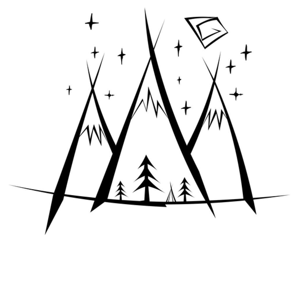 NeatoShop: Mountaons Camp BW