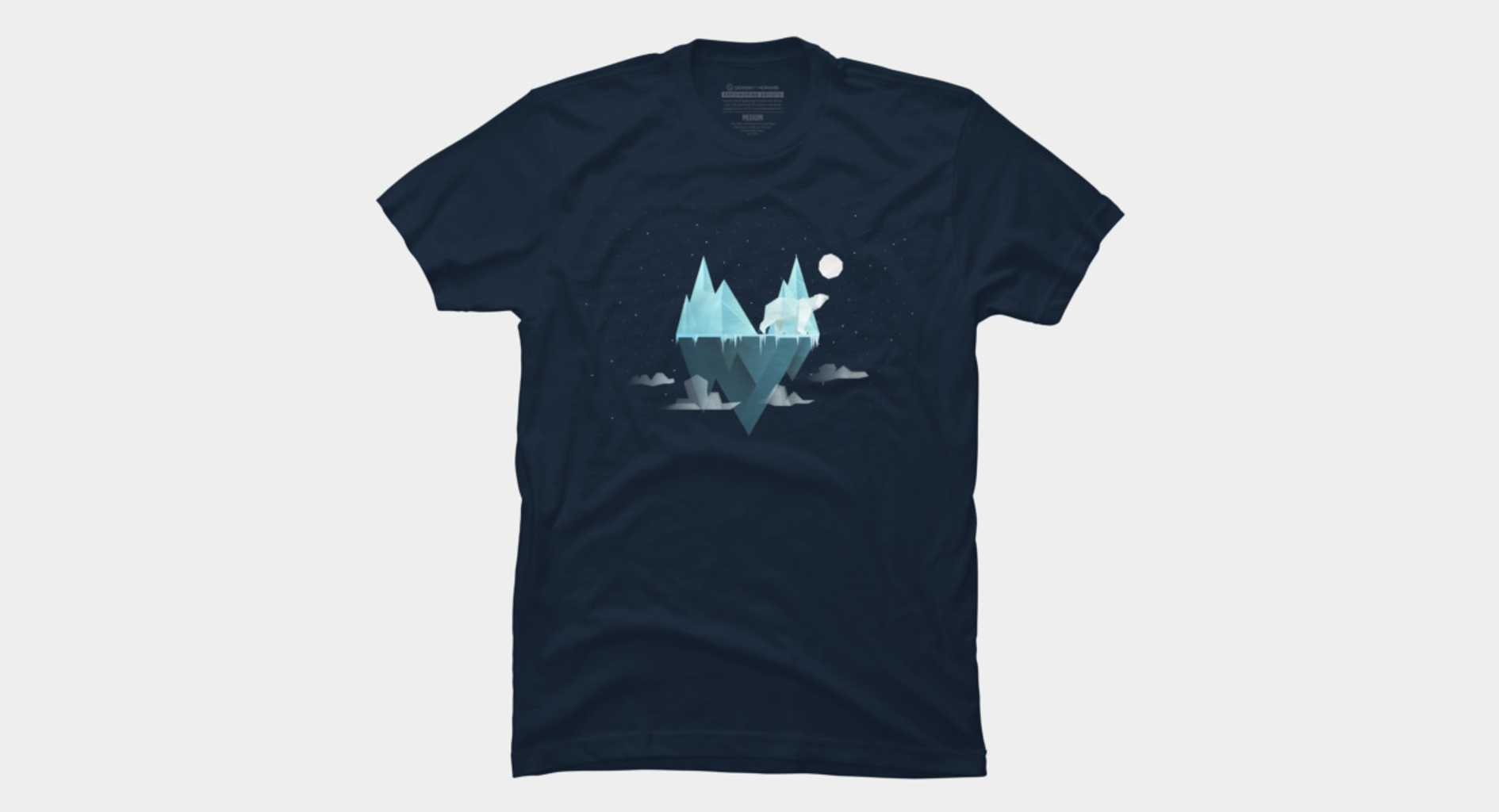 Design by Humans: Low Poly Polar Bear