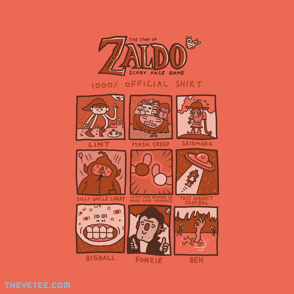 The Yetee: Zaldo: Scary Face Game 1000% Official Shirt