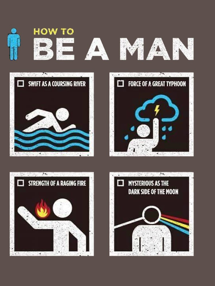 RedBubble: be a man