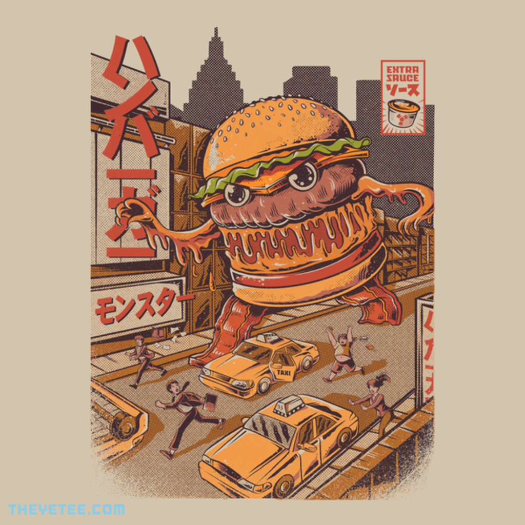 The Yetee: BurgerZilla