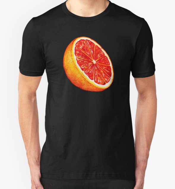 RedBubble: Grapefruit Pattern - Black