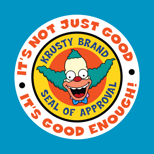 TeePublic: Krusty Brand Seal