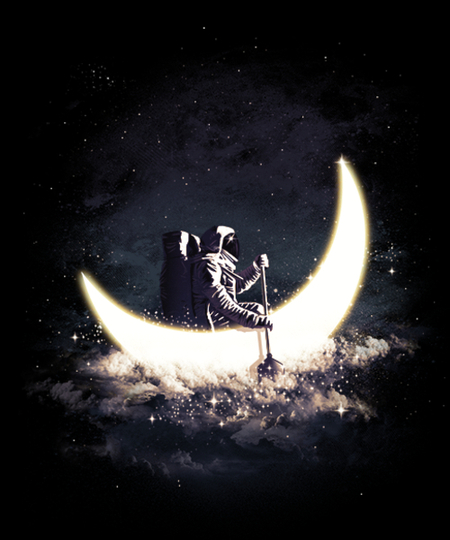 Qwertee: Moon Sailing