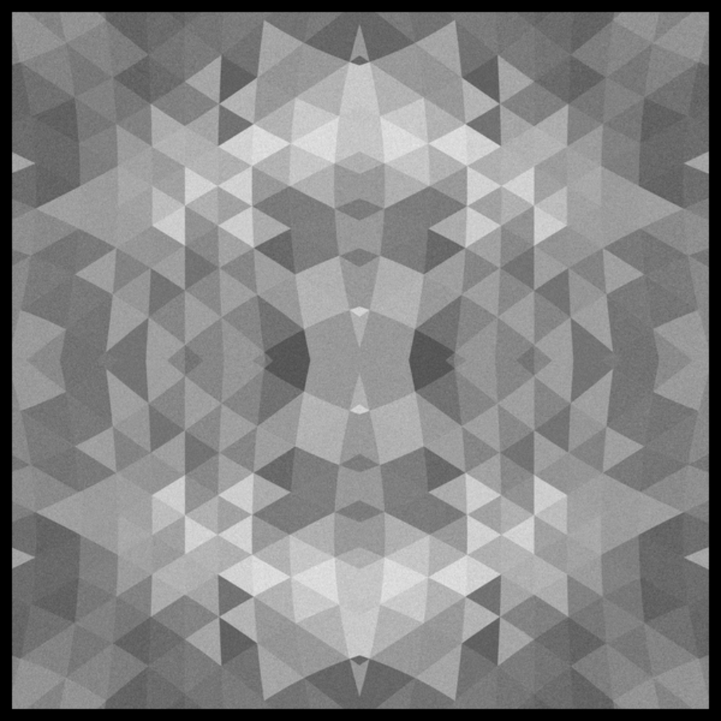 NeatoShop: Black and White Fractal Geometric Pattern