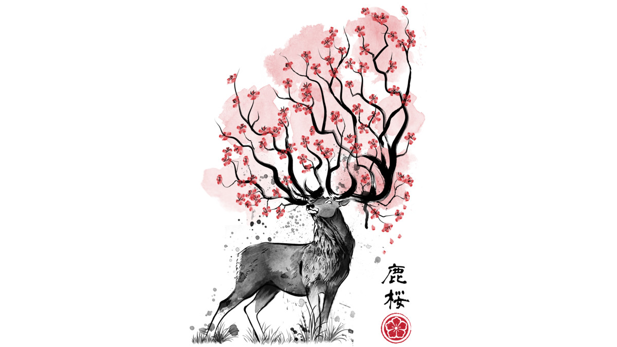 Design by Humans: Sakura Deer