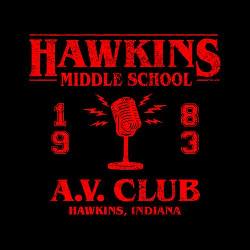 Five Finger Tees: Hawkins Middle School A.V. Club T-Shirt