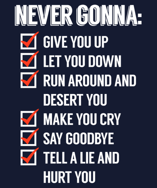Qwertee: Rickrolled