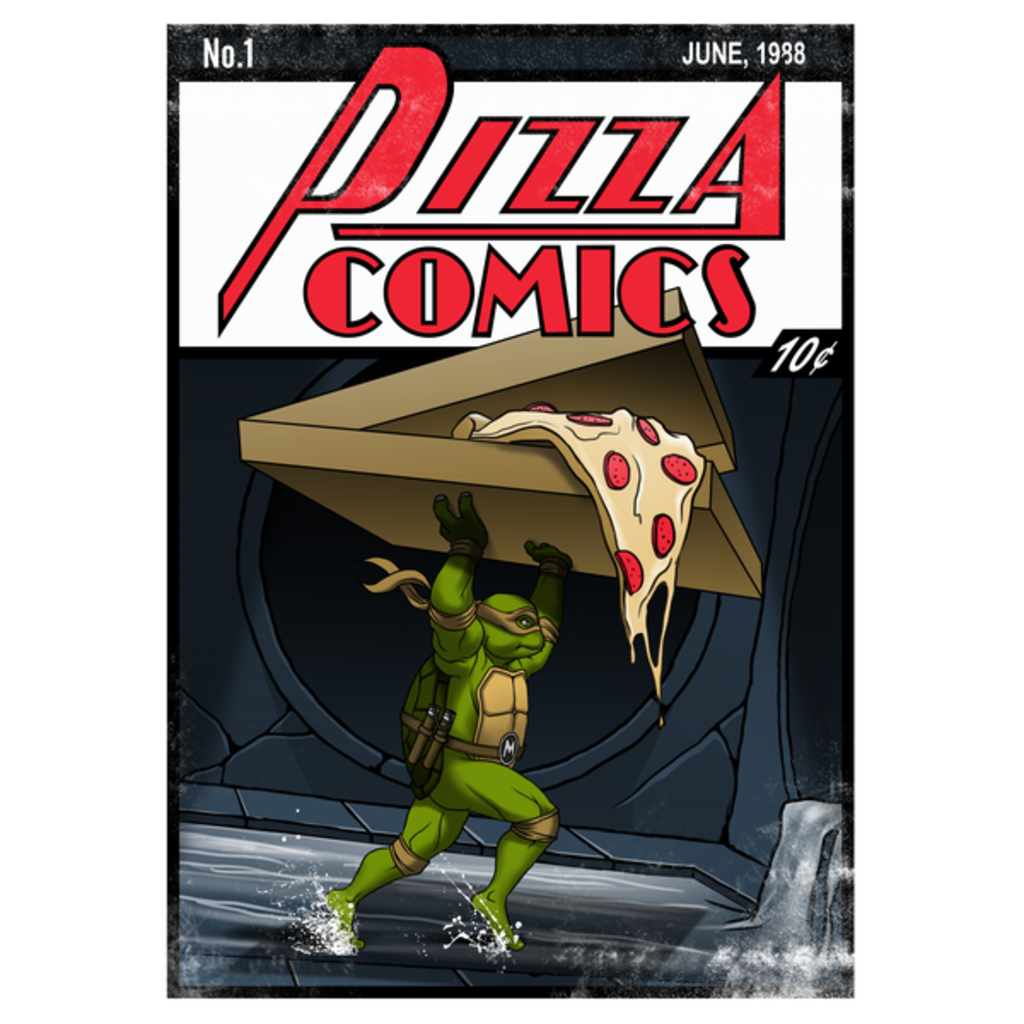 NeatoShop: Pizza Comics - Featuring Michelangelo