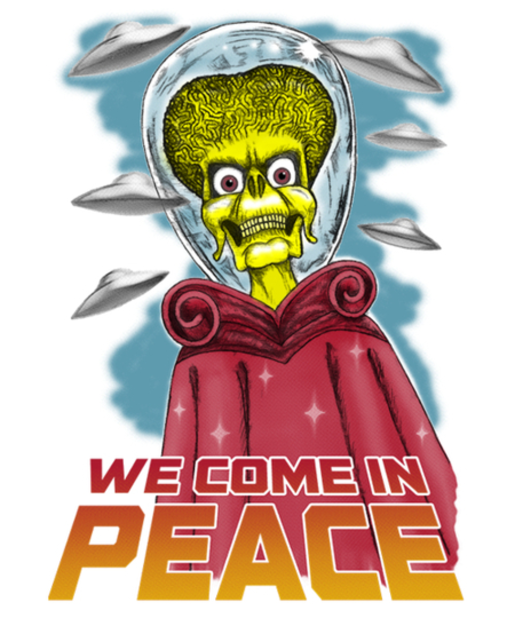 Qwertee: We Come in Peace