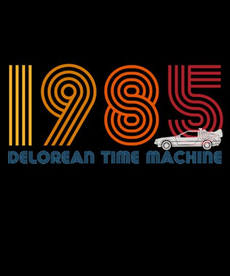 Qwertee: DeLorean Time Machine 1985