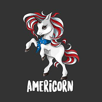 BustedTees: USA Unicorn Lovers Funny