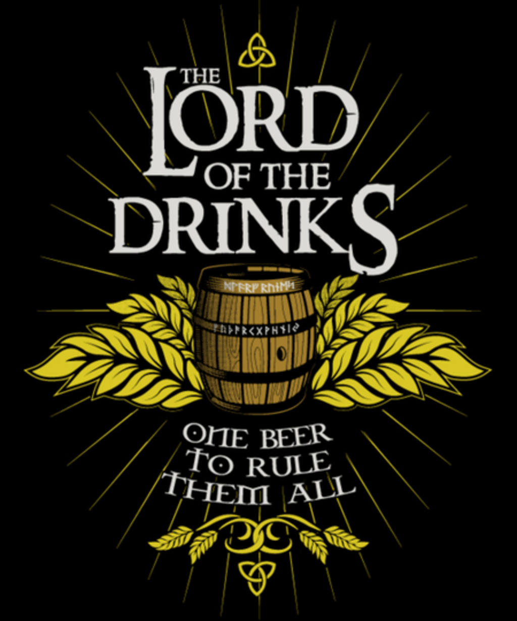 Qwertee: The Lord of the Drinks