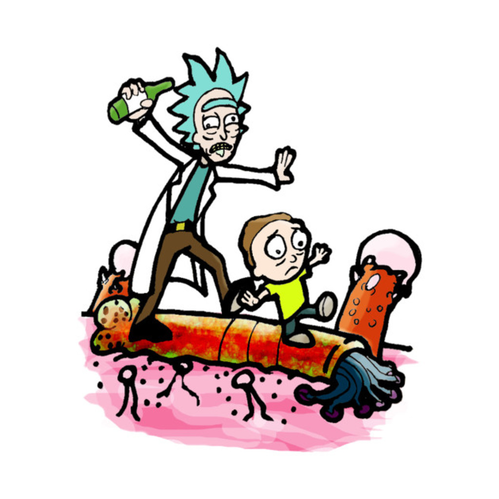 TeePublic: Rick and little Morty on a adventure T-Shirt