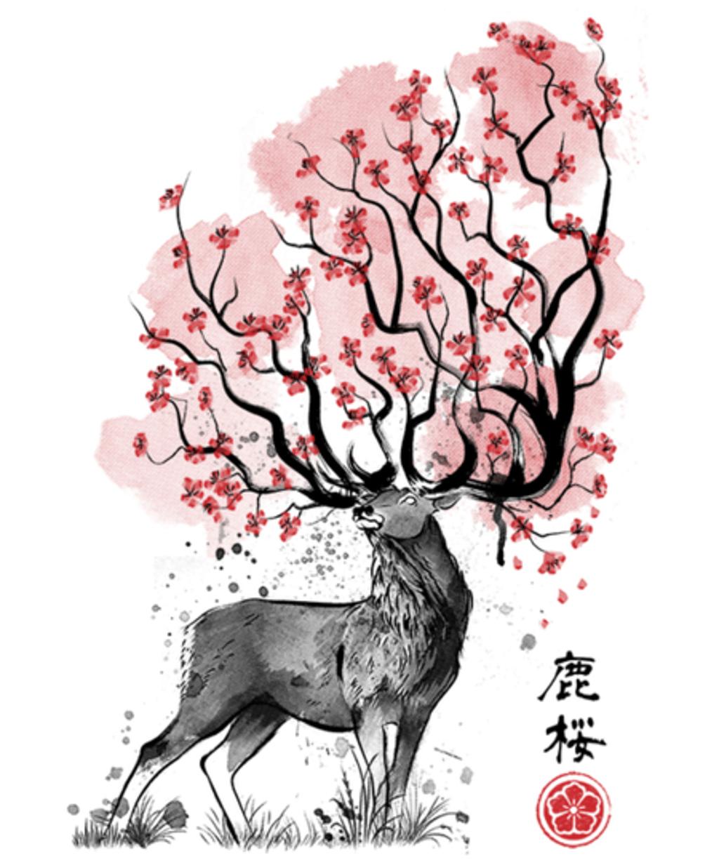 Qwertee: Sakura Deer