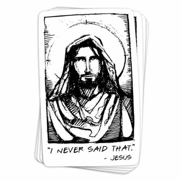 BustedTees: Jesus Quote Vinyl Sticker