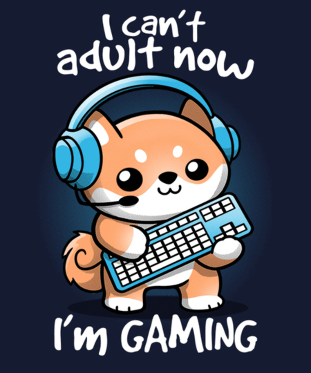 Qwertee: Gamer can't adult