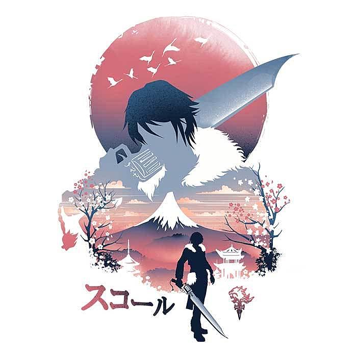 Once Upon a Tee: Squall Ukiyo-e
