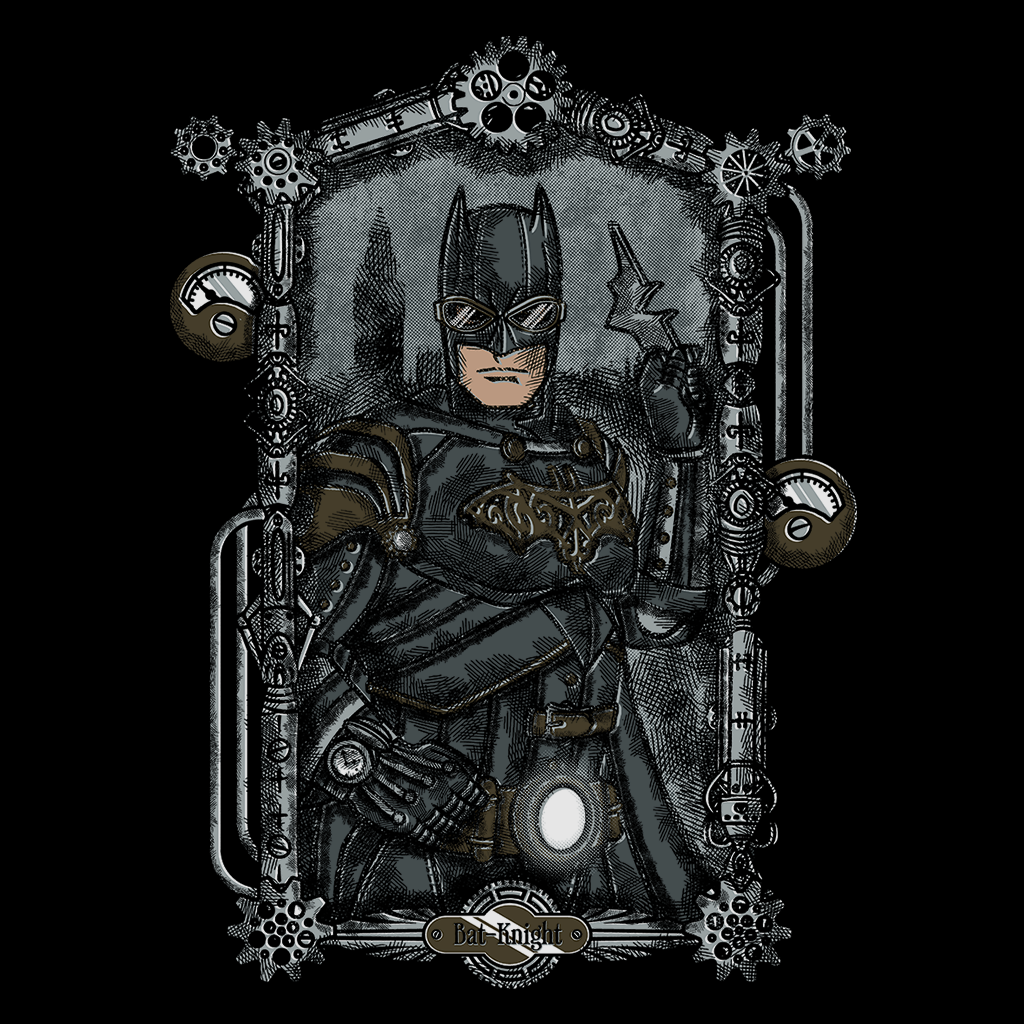 Pop-Up Tee: Bat Knight