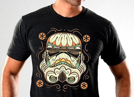 SnorgTees: Sugar Skull Trooper Limited Edition Tri-Blend