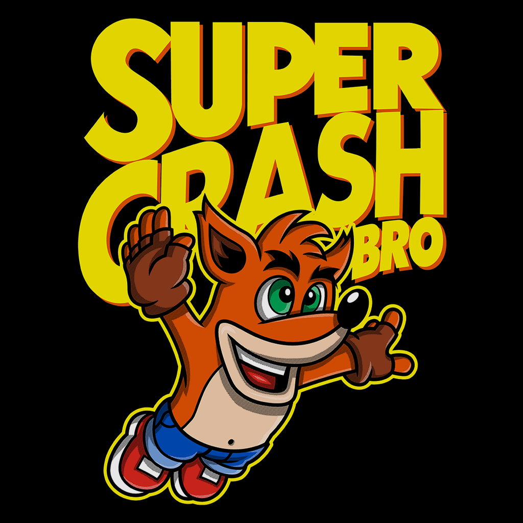 Pop-Up Tee: Super Crash Bros