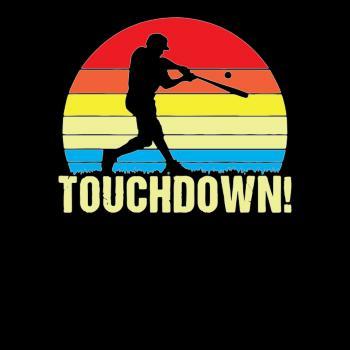 BustedTees: Touchdown Baseball
